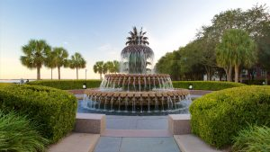 Charleston SC Landscape Design Pineapple Garden Fountain