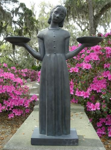 Reviews of lowcountry vistas and landscape design for Garden of good and evil statue