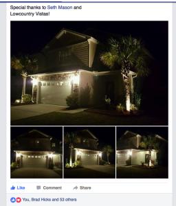Charleston Residential Landscape Design Facebook Likes