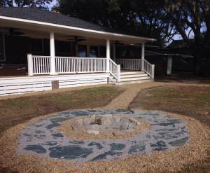 Charleston Residential Landscape Design - Hardscape Fire Pit 2