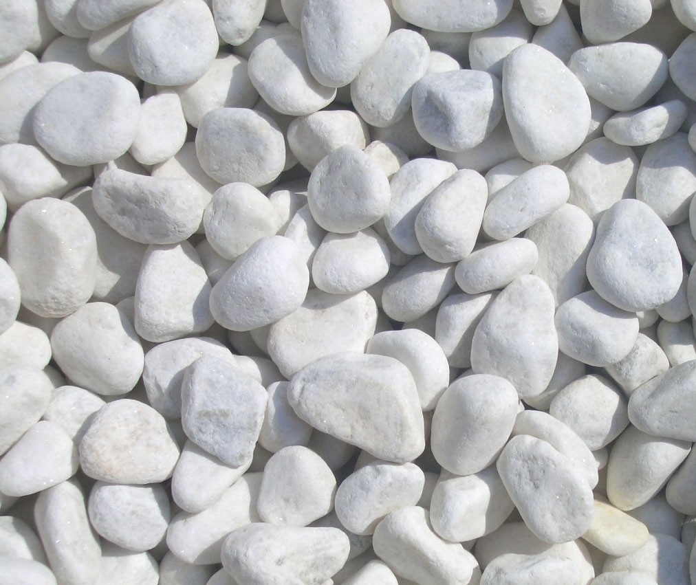 White Landscaping Rocks For Decorative With Awesome And Also Beautiful